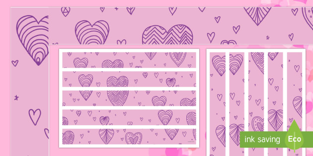 Valentine's Day Display Borders - Valentine's Day,  Feb 14th, love, cupid, hearts, valentine, 14th Feb, February