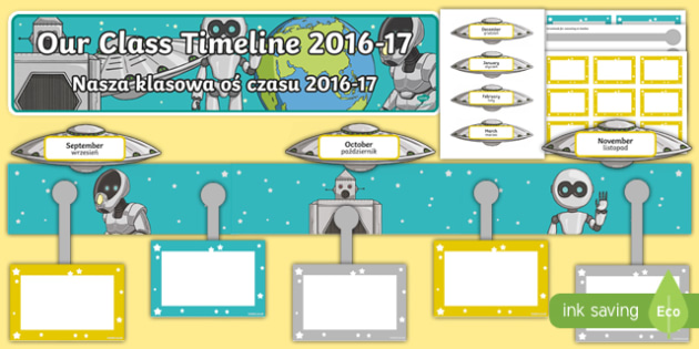 2016-17 Class Timeline Display Pack Polish Translation - polish, Back to School, new start, new class, timeline, display, Scottish