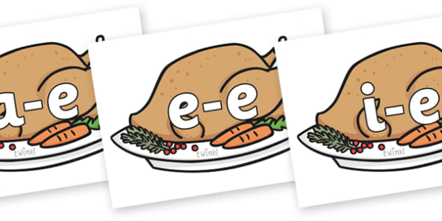 Modifying E Letters on Christmas Turkeys - Modifying E, letters, modify, Phase 5, Phase five, alternative spellings for phonemes, DfES letters and Sounds