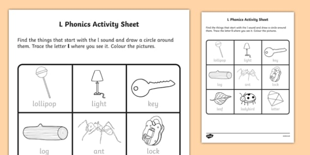 l Phonics Activity Sheet-Irish, worksheet