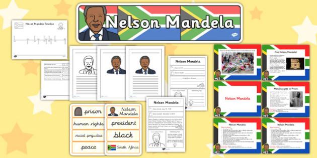 Nelson Mandela Resource Pack KS2 - nelson mandela, pack, ks2