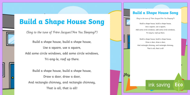 Build a Shape House Song