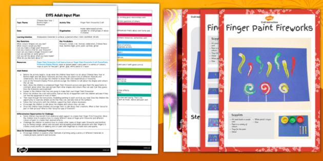 Finger Paint Fireworks Craft EYFS Adult Input Plan and Resource Pack - finger paint, fireworks, craft, eyfs, adult input, plan, pack