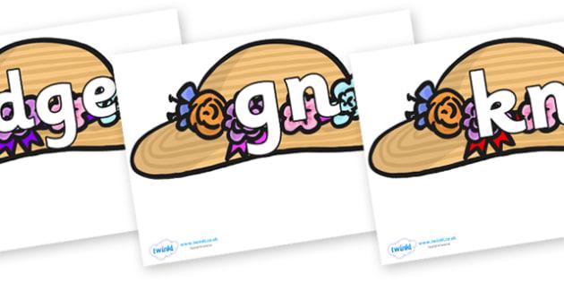 Silent Letters on Bonnets - Silent Letters, silent letter, letter blend, consonant, consonants, digraph, trigraph, A-Z letters, literacy, alphabet, letters, alternative sounds