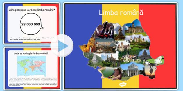 Limba Romana, Prezentare Powerpoint informativa