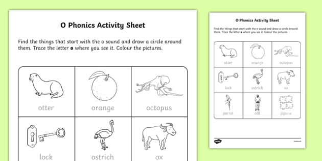 o Phonics Activity Sheet-Irish, worksheet