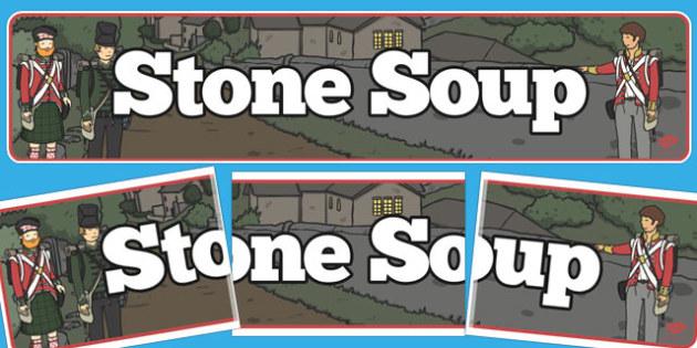 Stone Soup Display Banner - stone soup, display banner, banner
