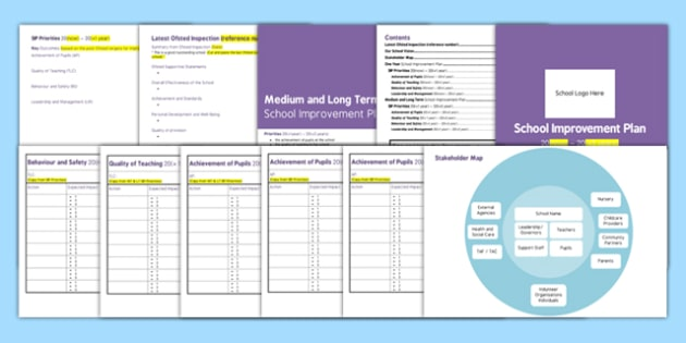 School Improvement Plan Template - school, plan, improvement