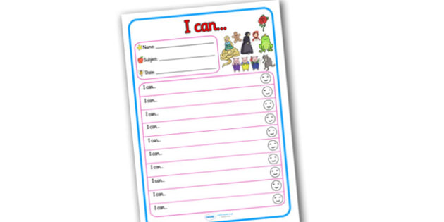 Themed Target and Achievement Sheets Traditional Tale Themed I Can - Target and Achievement Sheet, I Can Sheet, Target Sheet, Traditional Tale Themed