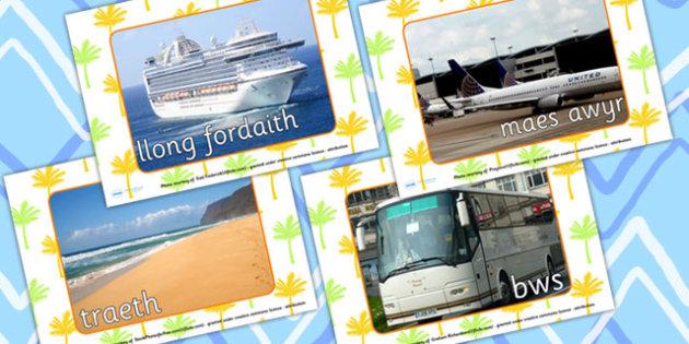 Travel Display Photos (Welsh Translation) - transport, holidays