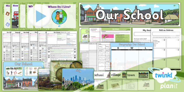 Geography: Our School Year 1 Unit Pack
