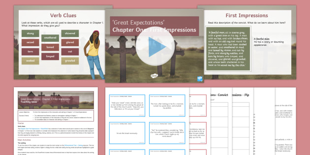 Great Expectations Chapter One Lesson Pack - Great Expectations, Charles Dickens, Pip, Magwitch, convict.