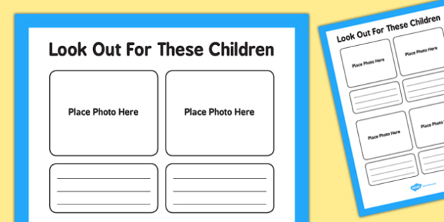 Look Out For These Children Sign Template - children, sign, template