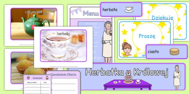 Zestaw materiałów Herbatka u Królowej po polsku - kultura