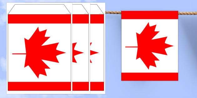 Canada Flag Bunting - canada flag, canada, flag, bunting, display bunting, display