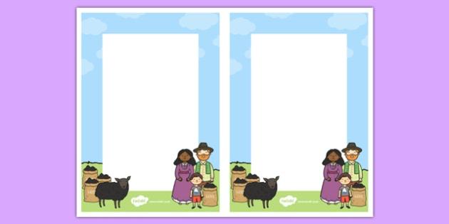 Baa, Baa, Black Sheep Editable Notes