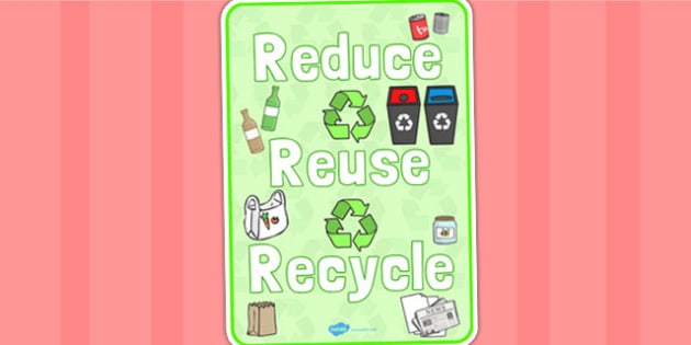 Eco And Recycling Reduce Reuse Recycle Display Poster - Eco and Recycling, environment, recycling, eco, display, banner, sign, poster, friendly, Eco school,  reuse, reduce, emission, Eco, recycle, paper, saving, turn off, lights, electricity, eco cla
