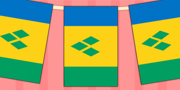 St Vincent and the Grenadines Flag Display Bunting - countries