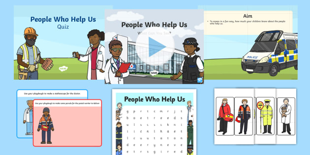 Top 10 People Who Help Us Resource Pack - People Who Help Us, jobs, occupations, helping, everyday life, ks1,