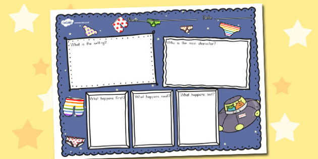 Book Review Writing Frame to Support Teaching on Aliens Love Underpants - australia