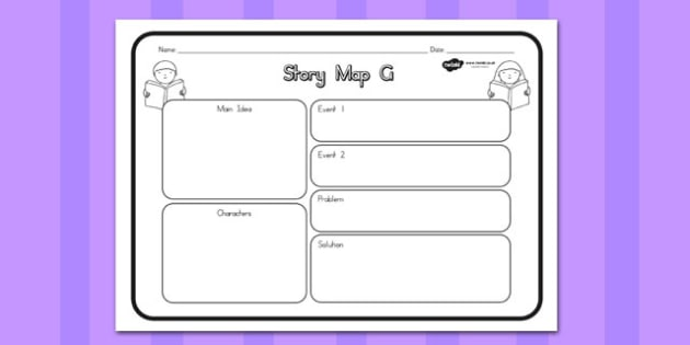 Story Map G Worksheet - australia, story, map, worksheet, g