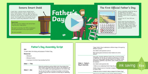 Australia Father's Day Assembly Pack-Australia