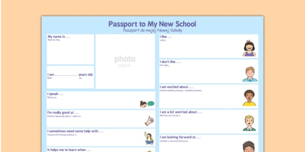 Passport To a New School Polish Translation - polish, passport, new school, new, school
