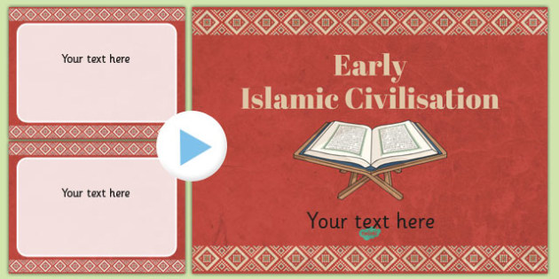 Early Islamic Themed PowerPoint Template - islamic, template