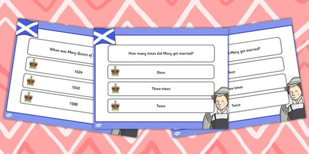 Mary Queen of Scots Quiz PowerPoint - mary queen of scots, quiz