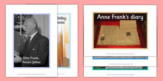 Anne Frank Poster Pack - anne frank, world war 2, nazi, germany, jewish