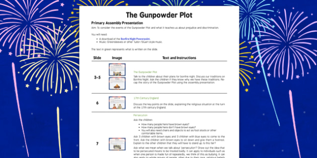 Bonfire Night Assembly Script - bonfire, night, assembly, script, guy, fawkes, tradition, fireworks, gunpowder, november, 5th