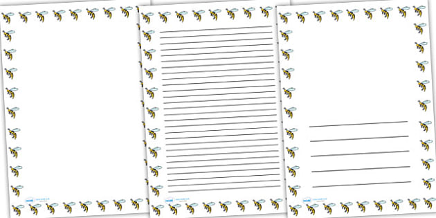 Wasp Full Page Borders - page borders, wasp page borders, wasp border for page, wasp, minibeast page borders, A4, border for page, lined pages