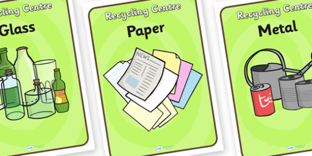 Recycling Centre Role Play Signs - recycling centre, role play, signs, recycling centre role play, recycling centre signs, role play signs, recycling signs