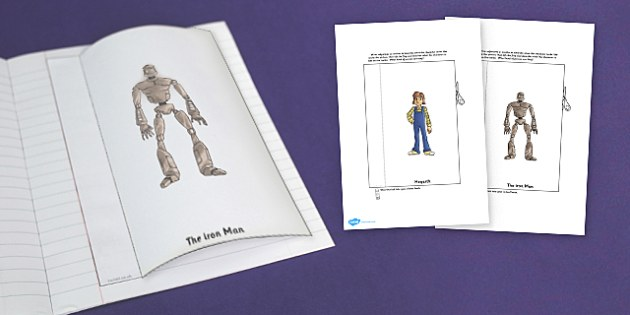 The Iron Man Character Description Interactive Writing Template