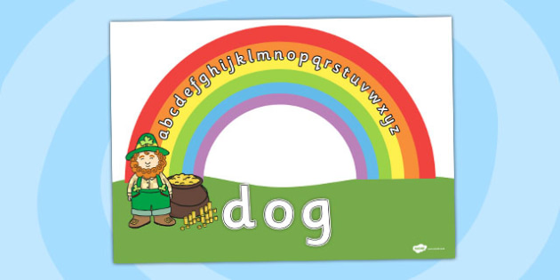 Rainbow Cut and Stick Word Building Activity - cutting, motor, skills, sticking