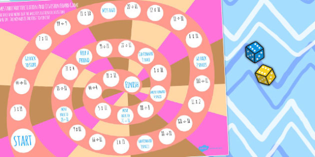 11 Times Table Multiplucation And Division Board Game - activity