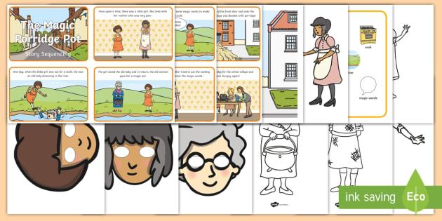 The Magic Porridge Pot Story Sack - story sack, story books, story book sack, stories, story telling, childrens story books, traditional tales