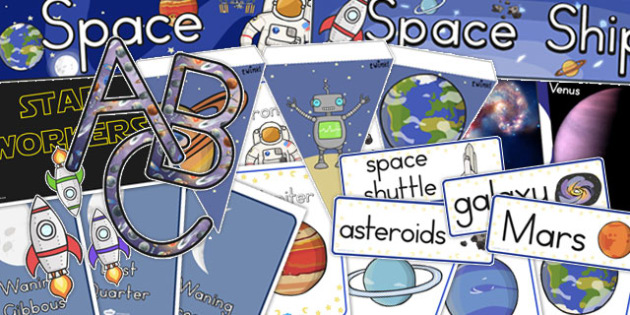 Space Topic Display Pack - australia, space, display pack, pack