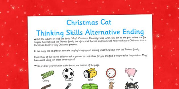 Christmas Cat Thinking Skills Alternative Ending - mog, christmas cat, christmas, cat, skills, alternative