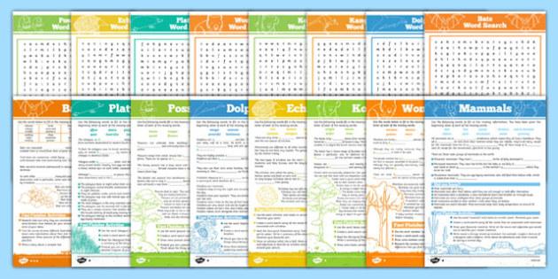 Australian Mammals Activity Pack