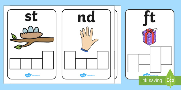 Phase 4 Sound Phoneme Frame Cards - phase 4, sound, phonemes, frame cards, cards