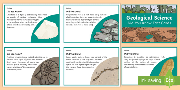 Australia Geological Science Did You Know Fact Cards - Australia Science, year 5, year 6, Australian curriculum, fact cards information, fact, display card