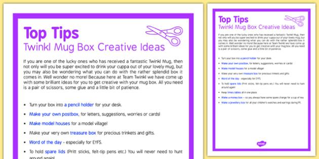 Twinkl Mug Box Creative Ideas Top Tips