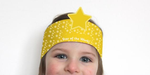 Star of the Week Award Headband - awards, rewards, props, praise