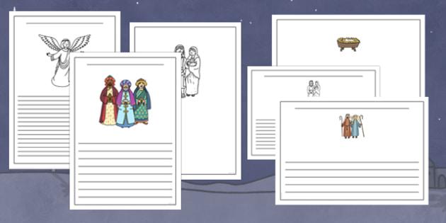 The Nativity Story Writing Frames - nativity, writing frames