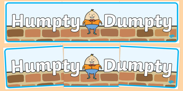 Humpty Dumpty Display Banner - Humpty Dumpty, Small World, backdrop, background, scenery, small world area, small world display, small world resources, nursery rhyme, rhyme, rhyming, nursery rhyme story, nursery rhymes, position, Humpty Dumpty resour