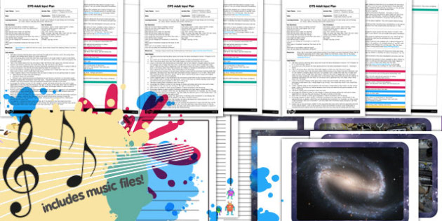A Space Movement Adventure to Music EYFS Adult Input Plan Pack - pack
