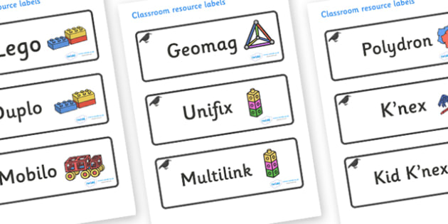Raven Themed Editable Construction Area Resource Labels - Themed Construction resource labels, Label template, Resource Label, Name Labels, Editable Labels, Drawer Labels, KS1 Labels, Foundation Labels, Foundation Stage Labels
