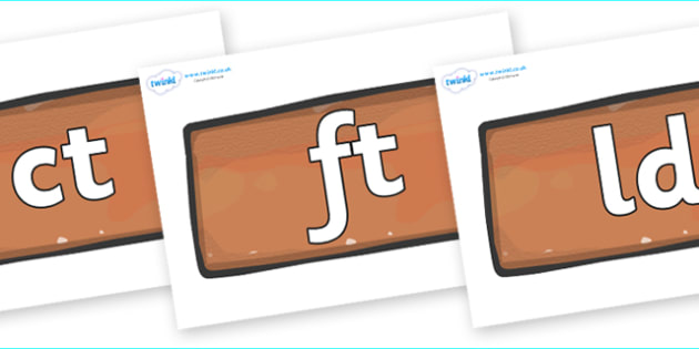 Final Letter Blends on Bricks - Final Letters, final letter, letter blend, letter blends, consonant, consonants, digraph, trigraph, literacy, alphabet, letters, foundation stage literacy