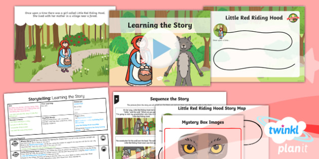 Traditional Tales: Little Red Riding Hood: Storytelling 1 Y1 Lesson Pack - Traditional stories, fairytales, fairy tales, fairy stories, familiar stories
